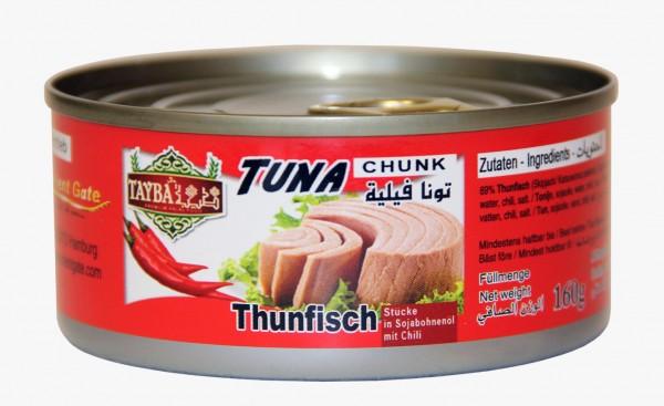 Thunfisch in Öl mit Chili, 160g