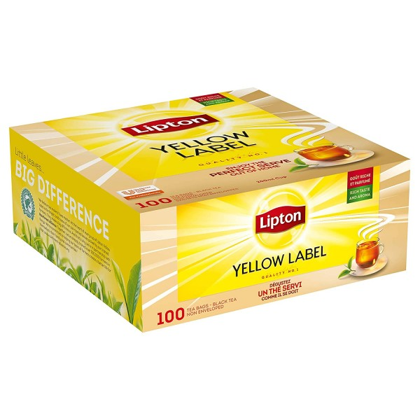 Gelber Tee, 100 Beutel