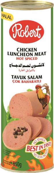Frühstücksfleisch Hähnchen Hot, 850g
