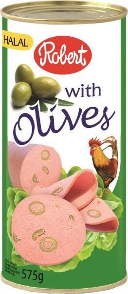 Frühstücksfleisch Hähnchen mit Oliven, 575g